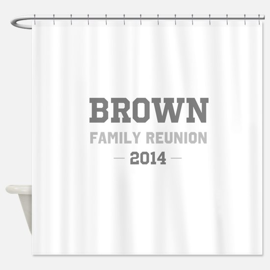 Personal Surname Family Reunion Shower Curtain
