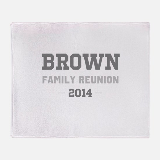 Personal Surname Family Reunion Throw Blanket