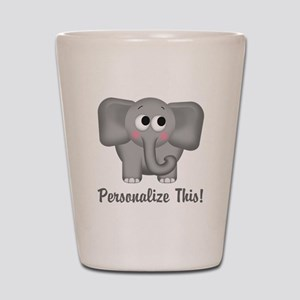 Cute Elephant Personalized Shot Glass