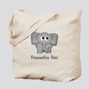Cute Elephant Personalized Tote Bag