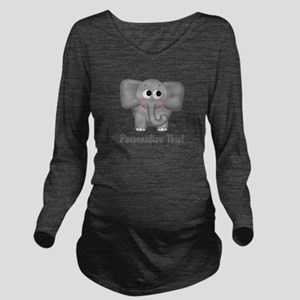 Cute Elephant Personalized Long Sleeve Maternity T