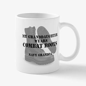 Navy Grandpa Granddaughter wears CB Mugs