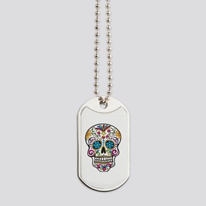 Day of The Dead Sugar Skull, Halloween Dog Tags