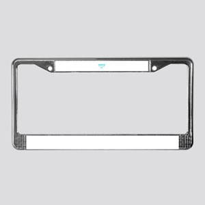 Template Blue Family Reunion License Plate Frame