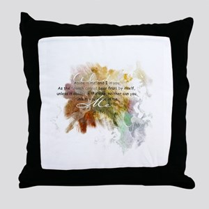 Abide in Me Throw Pillow