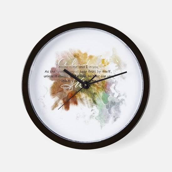 Abide in Me Wall Clock