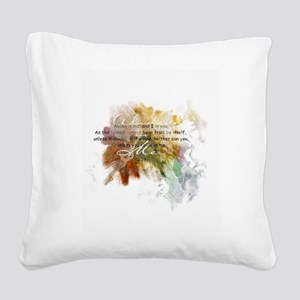 Abide in Me Square Canvas Pillow