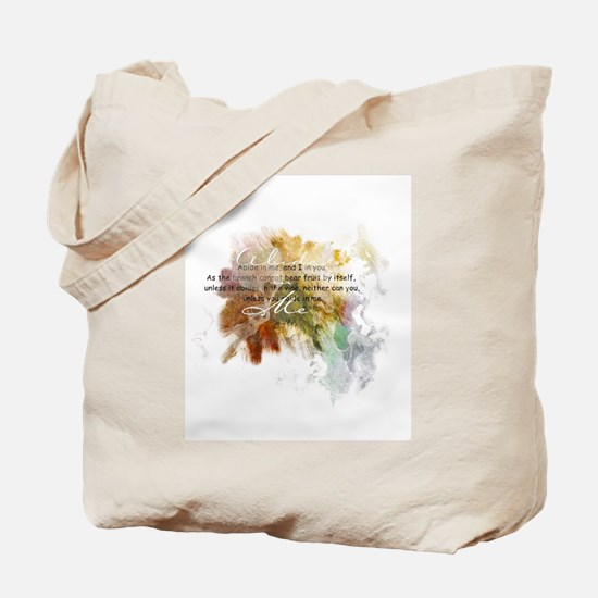 Abide in Me Tote Bag
