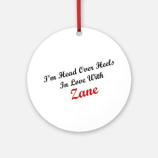 In Love with Zane Ornament (Round)