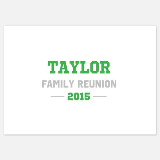 Template Green Family Reunion Invitations