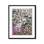 Violet the White Westie Framed Panel Print