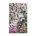 Violet the White Westie 35x21 Wall Decal