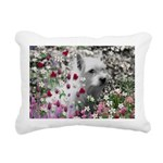 Violet the White Westie Rectangular Canvas Pillow