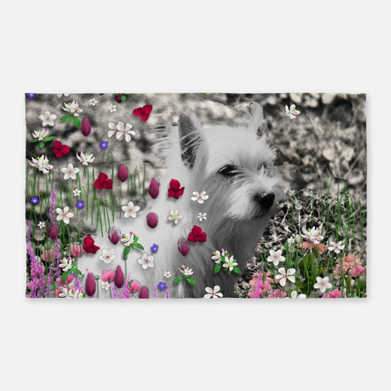 Violet the White Westie 3'x5' Area Rug