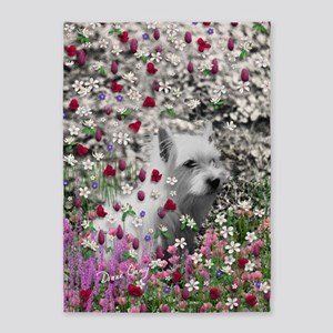 Violet the White Westie 5'x7'Area Rug