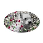 Violet the White Westie 35x21 Oval Wall Decal