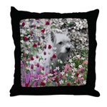 Violet West Highland White Terrier Throw Pillow