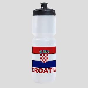 croatia_b Sports Bottle