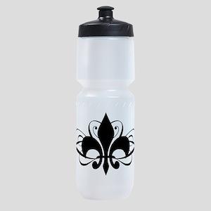 Fleur De Lis Swirls Sports Bottle