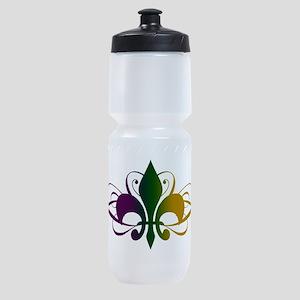 fleur-de-lis-swirls_color Sports Bottle