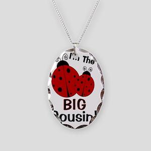 imtheBIGcousin_ladybug2 Necklace Oval Charm