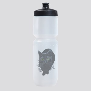 black-kitty Sports Bottle