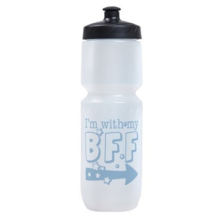 with-my-bff-right.png Sports Bottle
