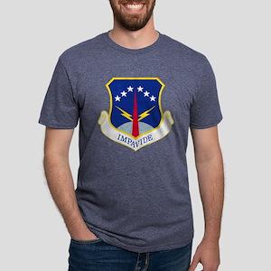 USAF 90 Missile Wing Impavi Mens Tri-blend T-Shirt