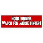 Bumper Sticker - Horn Broken