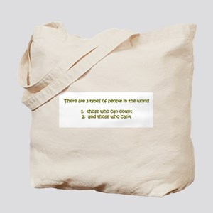 There are three types of peop Tote Bag