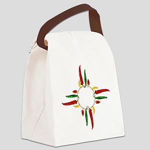 Chile pepper zia symbol Canvas Lunch Bag