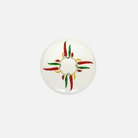 Chile pepper zia symbol Mini Button