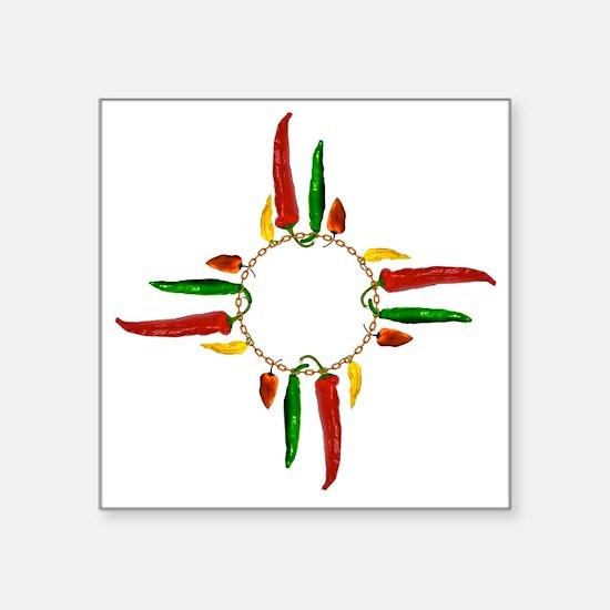 """Chile pepper zia symbol Square Sticker 3"""" x 3"""""""