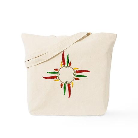 Chile pepper zia symbol Tote Bag