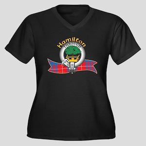 Hamilton Clan Women's Plus Size V-Neck Dark T-Shir