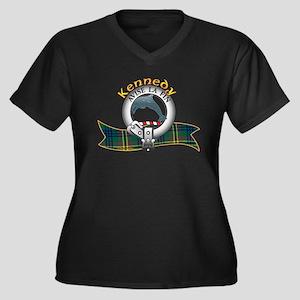 Kennedy Clan Women's Plus Size V-Neck Dark T-Shirt