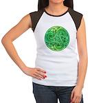 Celtic Triskele Women's Cap Sleeve T-Shirt