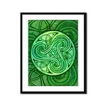 Celtic Triskele Framed Panel Print