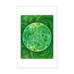 Celtic Triskele Mini Poster Print