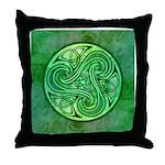 Celtic Triskele Throw Pillow