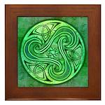Celtic Triskele Framed Tile