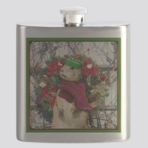 Christmas Prairie dog Flask