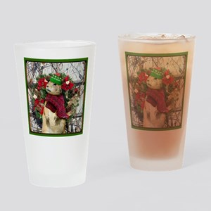 Christmas Prairie dog Drinking Glass