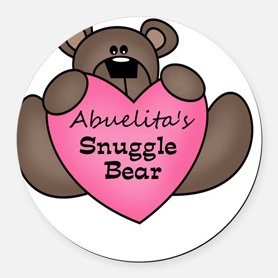 snuggle bear Round Car Magnet