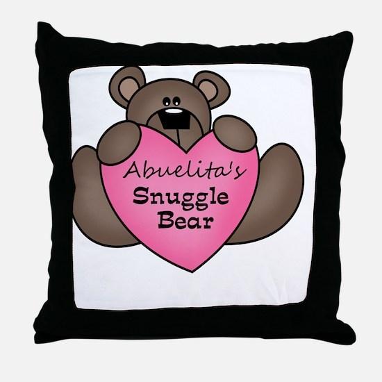 snuggle bear Throw Pillow