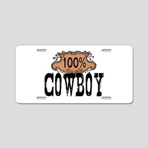 100 Cowboy Aluminum License Plate