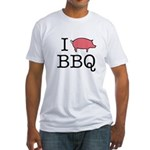 I Love Pork BBQ Fitted T-Shirt