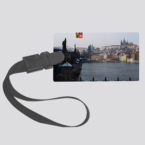 I Love Prague St Charles Bridge Large Luggage Tag