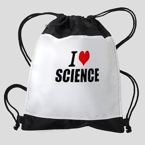 I Love Science Drawstring Bag