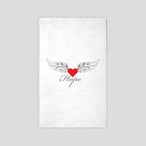 Angel Wings Hope 3'x5' Area Rug
